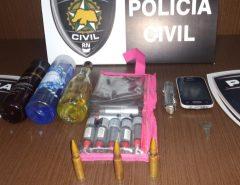 Mulher é presa em Macaíba por posse de arma de fogo de uso restrito, receptação e corrupção de menores