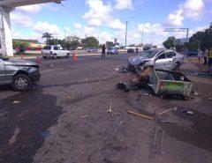 Uma pessoa morre e duas ficam feridas em acidente na BR-101 em Parnamirim