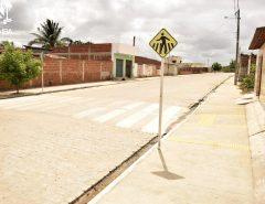 Prefeitura conclui obra de pavimentação no Loteamento Santa Rosa