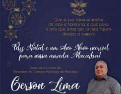 Mensagem Natalina do Presidente da Câmara Municipal de Macaíba Gerson Lima