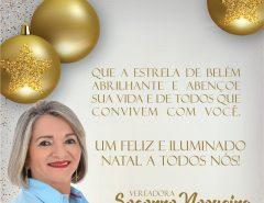Mensagem de Feliz Natal da Vereadora Socorro Nogueira
