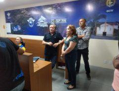 Marília Dias visita COI para aprofundar conhecimentos sobre ações de segurança