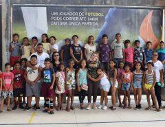 Crianças de Taipu visitam a Vila Olímpica de Macaíba