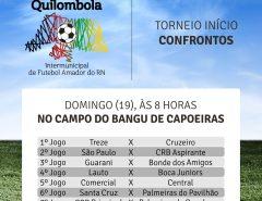 Neste domingo (19) acontece o torneio início da 1ªCopa Quilombola de Futebol