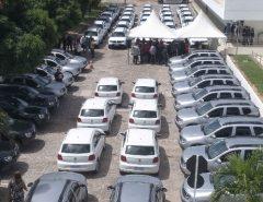 Governo entrega mais 56 veículos para equipar polícias Civil e Militar