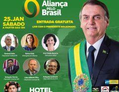 Bolsonaro visa promover o 'Aliança pelo Brasil' em 'live' com apoiadores do RN