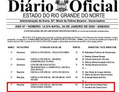 Escola Estadual Arcelina Fernandes sob nova Direção