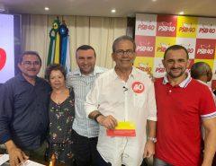 Vereadores Emídio Júnior e Denilson Gadelha prestigiam filiação do deputado Hermano Morais ao PSB
