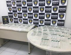 Polícia Civil prende homem por tráfico de drogas na Zona Sul de Natal e apreende 120 garrafas de lança-perfume