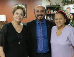 Em visita a Natal, Dilma Rousseff é recebida por Fátima Bezerra na sede do Governo do RN