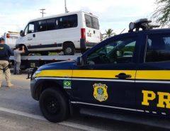 PRF e DER fazem operação conjunta para coibir o transporte clandestino de passageiros