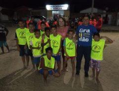 Marília Dias visita Projeto Escolinha de Futebol Esperança