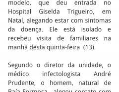 Exames descartam coronavírus em paciente no Hospital Giselda Trigueiro