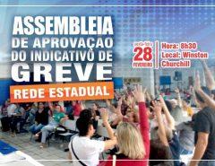 SINTE/RN convoca Rede Estadual para discutir indicativo de greve após proposta do Governo de parcelamento de 12,84% em três vezes