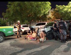 River-PI x América-RN tem cenas de violência com torcedor espancado, tiros e correria