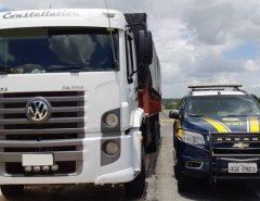 Caminhão roubado em Guarulhos é recuperado pela PRF em Caicó/RN