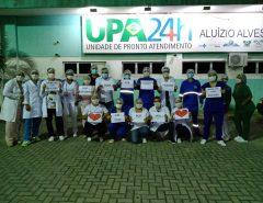 Apelo: Funcionários da UPA de Macaíba pedem que as pessoas fiquem em casa