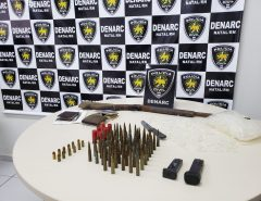 Polícia Civil apreende arma e munições de fuzil no Paço da Pátria, em Natal