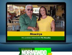 Filha de ex-vereador, Moacirya se filiou e confirmou pré-candidatura ao Legislativo pelo PSC Macaíba
