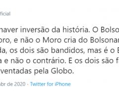 "Lula chama Moro e Bolsonaro de ""bandidos"""