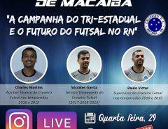 Quarta-feira (29) terá Live do Cruzeiro de Macaíba
