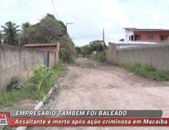Assaltante é morto após ação criminosa em Macaíba