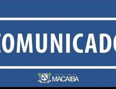 Nota: distribuição dos kits alimentares na rede pública municipal de Macaíba