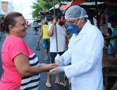Feira Livre em Monte Alegre é marcada por ações de conscientização sobre o Coronavírus
