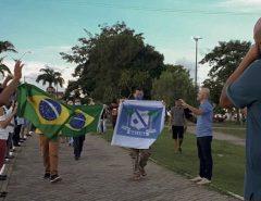 Pastores de várias igrejas se reuniram na Praça Paulo Holanda Paz (Pista Nova) em Macaíba