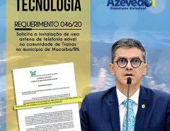 Deputado solicita instalação de antena de telefonia móvel para distrito rural de Macaíba
