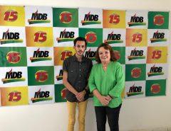 Lukas Ribeiro confirma filiação ao MDB e apoio a pré candidatura de Marília Dias