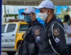 COVID-19: Comando da PM determina uso obrigatório de máscaras durante serviço