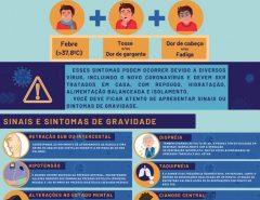 Cartilha orienta sobre sintomas pediátricos da Covid-19