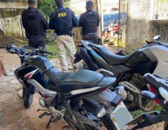 PRF e PM recuperam em Macaíba/RN motocicleta roubada