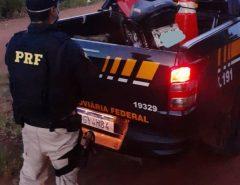 PRF recupera em São José de Mipibu/RN motocicleta roubada em Parnamirim/RN