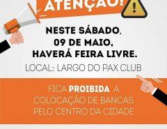 Haverá feira livre em Macaíba