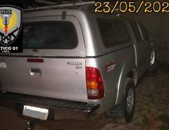 PM recupera veículo roubado em arrastão a uma fazenda