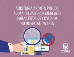 Auditoria do TCE aponta preços acima do valor de mercado para leitos de Covid-19 no hospital da Liga