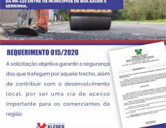 Deputado Kleber Rodrigues pede melhorias para estradas que ligam cidades na região Agreste