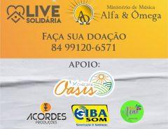 Alfa e Ômega fará live solidária na chácara Oásis