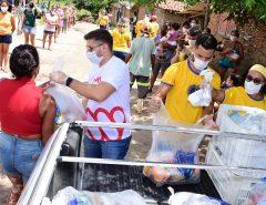 Famílias da zona rural de Macaíba recebem ajuda da LBV