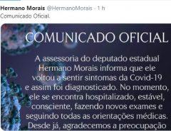 Deputado Hermano Morais volta a sentir sintomas da covid-19, informa Assessoria