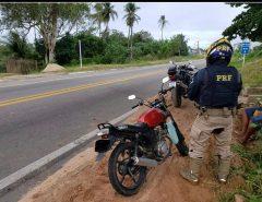 Motocicleta roubada em Macaíba é recuperada em Natal pela PRF