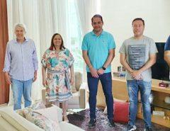 Deputados Kleber Rodrigues e João Maia se reúnem com a Vice-Prefeita e pré-candidata à prefeita de Parnamirim, Elienai Cartaxo e vereadores