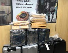 PF prende mulheres e faz apreensão recorde de maconha no aeroporto de Natal