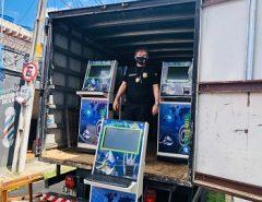 Polícia Civil apreende 17 máquinas caça-níqueis, em Macaíba, durante Operação