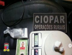 Companhia de Operações Rurais captura foragido e apreende drogas em Parnamirim