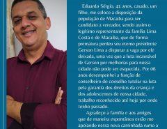 Sérgio Lima, pré-candidato a vereador