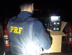 Operação Tamoio II: PRF retira de circulação 3.500 maços de cigarros contrabandeados