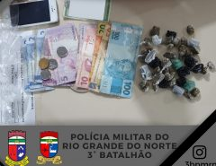 3º BPM detém homem suspeito de tráfico de drogas em Parnamirim/RN